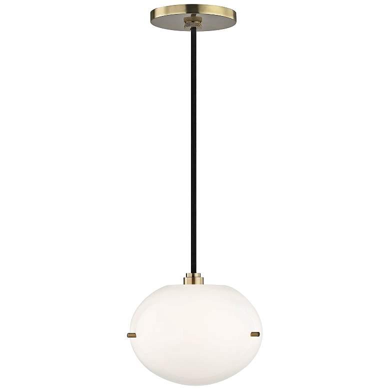 """Mitzi Winnie 7 3/4"""" Wide Aged Brass LED Mini Pendant"""