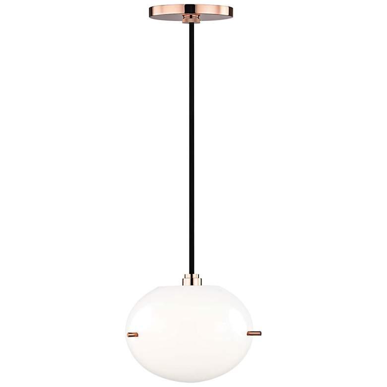 "Mitzi Winnie 7 3/4"" Wide Polished Copper LED Mini Pendant"