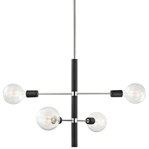 Astrid 24 Quot Wide Polished Nickel And Black 4 Light