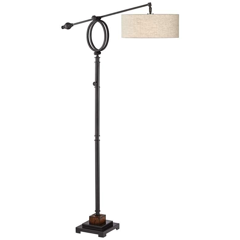 Henley Adjustable Boom Arm Floor Lamp by Uttermost