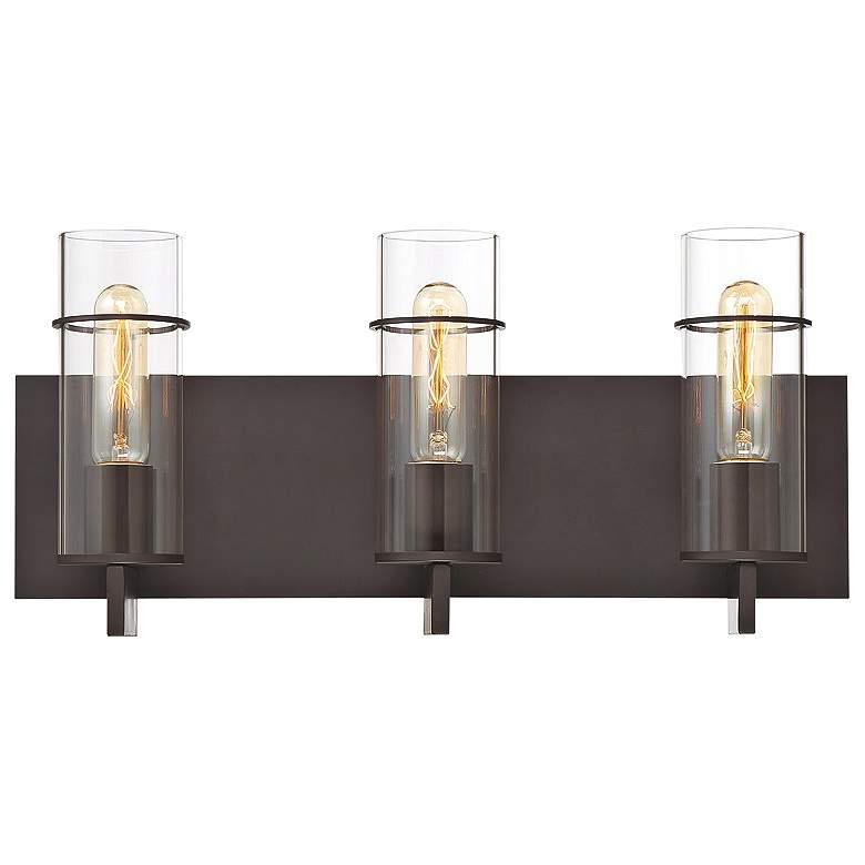"""Eurofase Pista 19"""" Wide Bronze 3-Light Bath Light"""