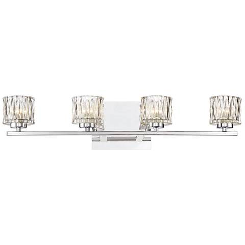 "Eurofase Guelph 24 1/2"" Wide Chrome 4-Light LED Bath Light"