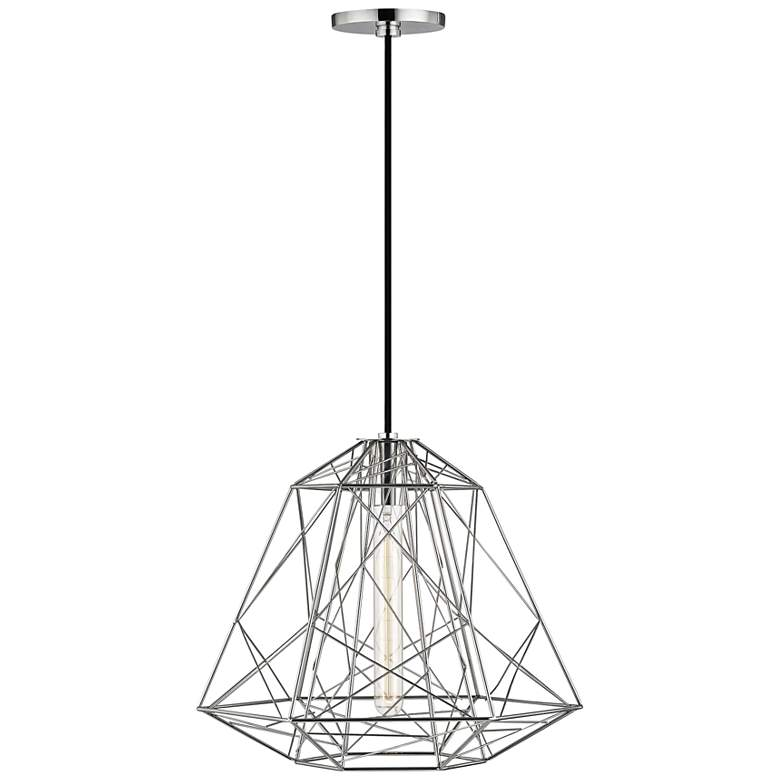 "Mitzi Ani 15 1/2"" Wide Polished Nickel Pendant Light"