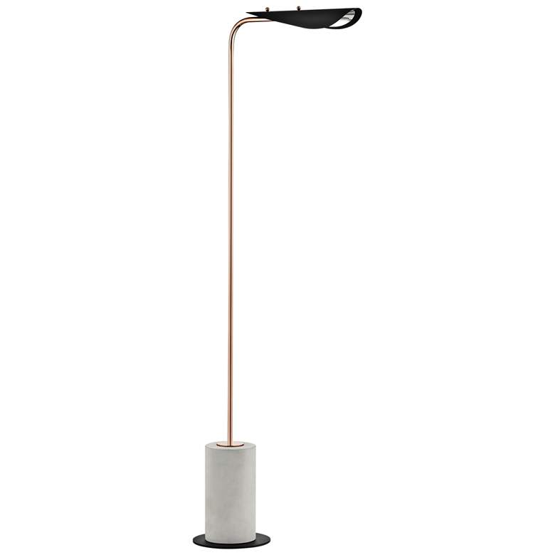 Mitzi Layla Polished Copper and Black LED Floor Lamp