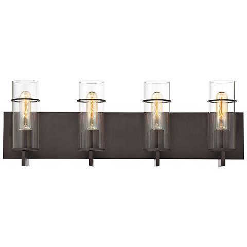 "Eurofase Pista 26"" Wide Bronze 4-Light Bath Light"