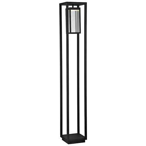 "Outdoor Bollard 57"" High Graphite Gray LED Landscape Light"