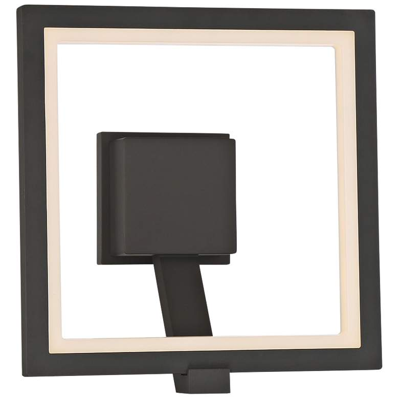 "Eurofase Outdoor Mount 12 1/2""H Graphite Gray LED Wall Light"