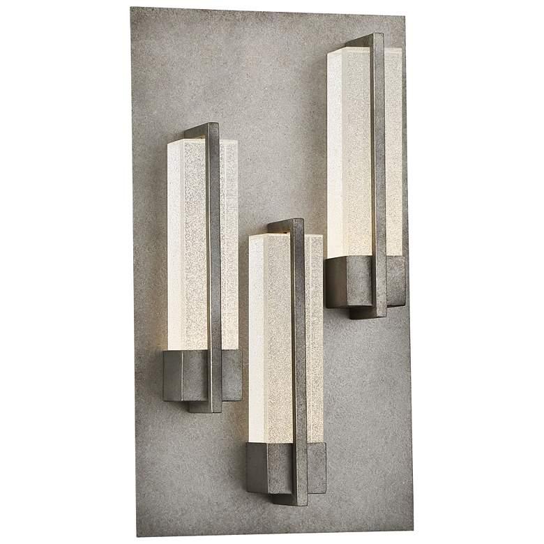 "Eurofase Pari 18"" High Silver LED Outdoor Wall Light"