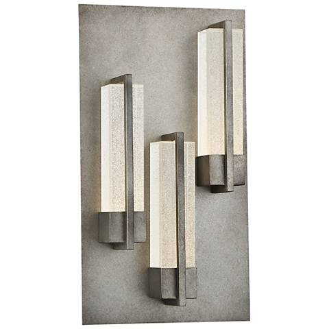 "Eurofase Pari 18"" High Silver LED Outdoor Wall Light"