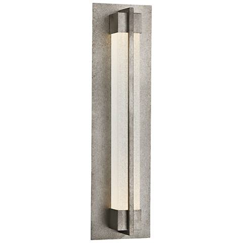 "Eurofase Pari 20 1/2"" High Silver LED Outdoor Wall Light"