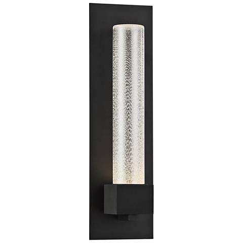 "Eurofase Solato 18"" High Black LED Outdoor Wall Light"
