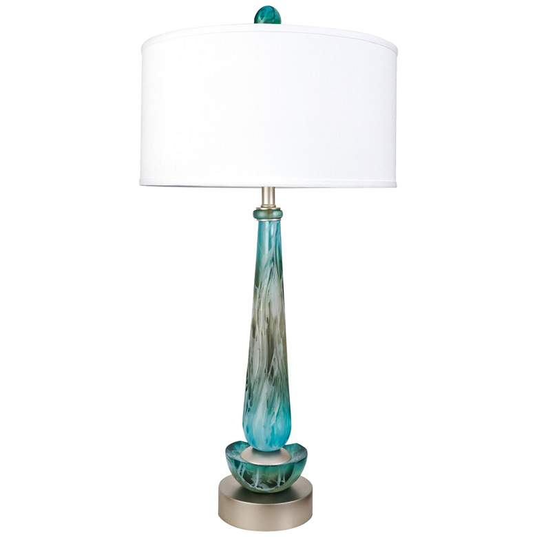 Van Teal Mainmast And White Acrylic Table Lamp