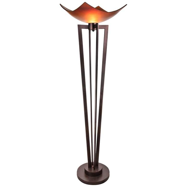 """Van Teal On Demand 72 1/4"""" High Bronze Torchiere Floor Lamp"""