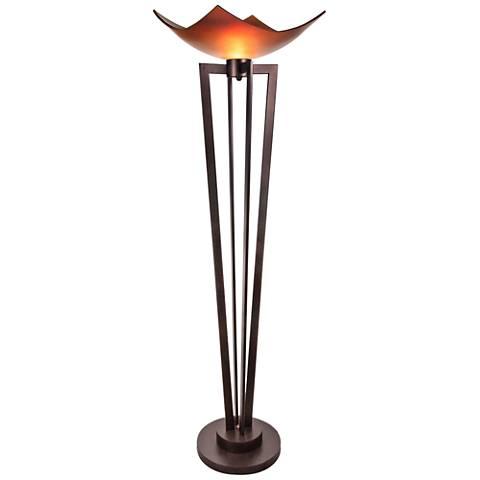 Van Teal On Demand Bronze Torchiere Floor Lamp