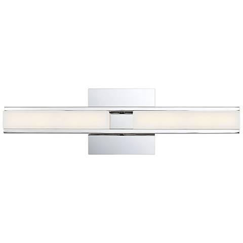 """Eurofase Fanton 19 1/4"""" Wide Chrome 2-Light LED Bath Light"""