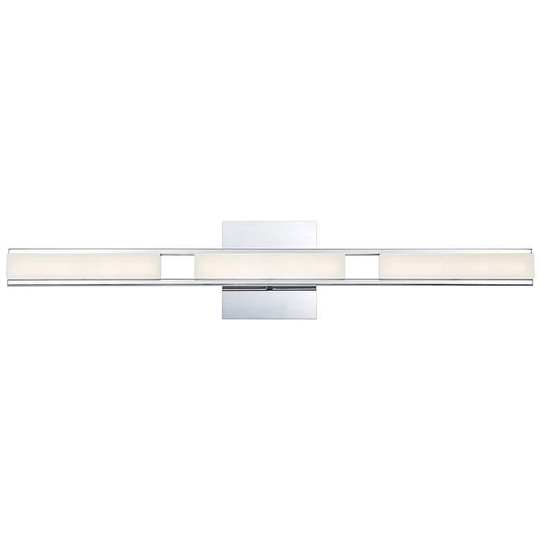 """Eurofase Fanton 30"""" Wide Chrome 3-Light LED Bath Light"""