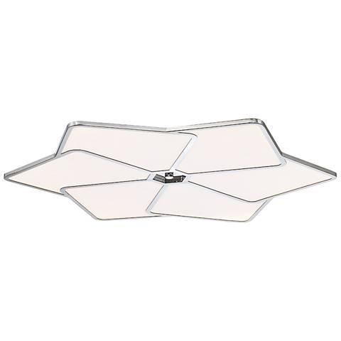 """Eurofase Oliti 23"""" Wide Chrome Ultrathin LED Ceiling Light"""