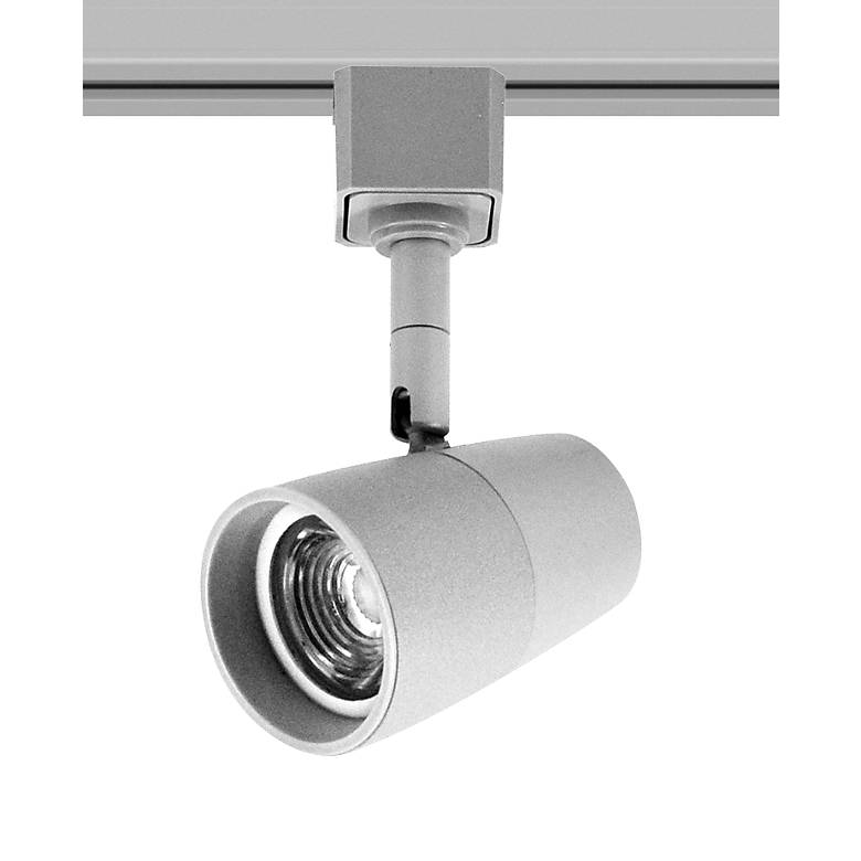 Led Track Lighting Silver: Nora Mac Silver 4000K LED Track Head For Halo Systems