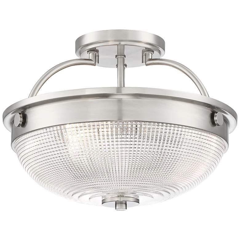"Drixley 13"" Wide Brushed Nickel 3-Light Ceiling Light"