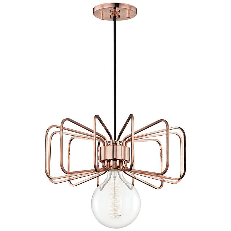 "Mitzi Daisy 14 1/2"" Wide Polished Copper Pendant Light"