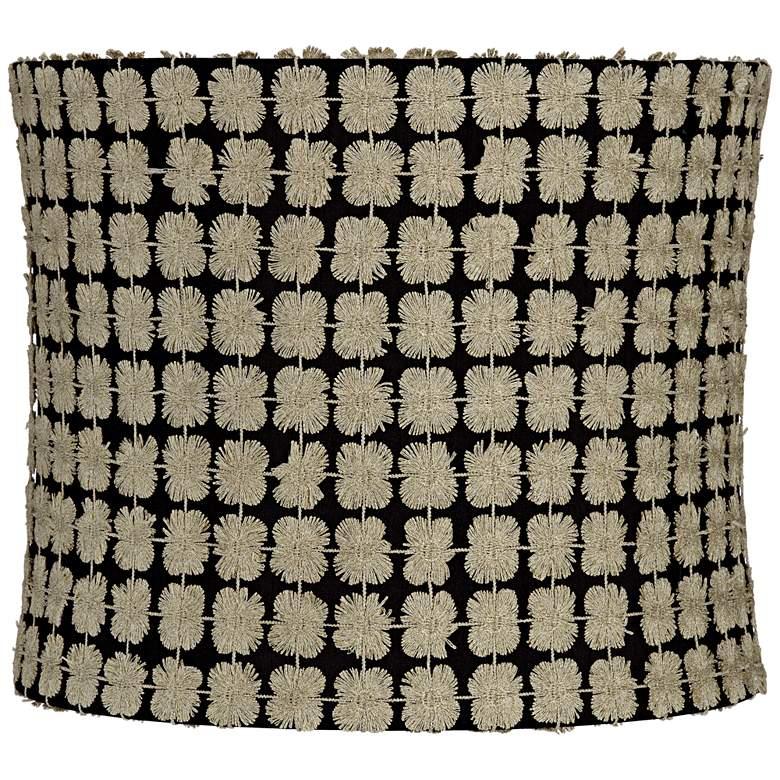 Edinburgh Gold over Black Drum Lamp Shade 12x12x10