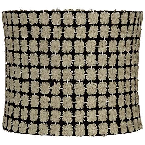 Edinburgh Gold over Black Drum Lamp Shade 12x12x10 (Spider)