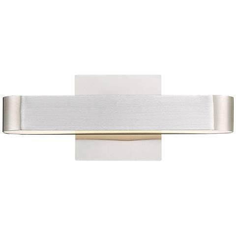 """Eurofase Moni 5"""" High Brushed Aluminum Small LED Wall Sconce"""