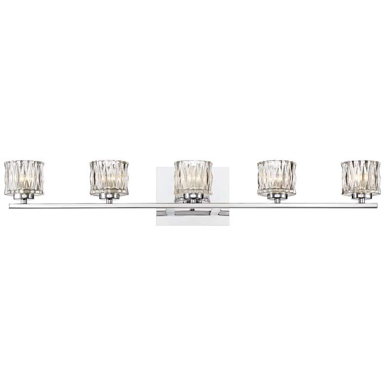 "Eurofase Guelph 31 3/4"" Wide Chrome 5-Light LED Bath Light"