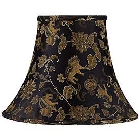 Chongking Lion Black Round Bell Lamp Shade 7x14x11 Spider