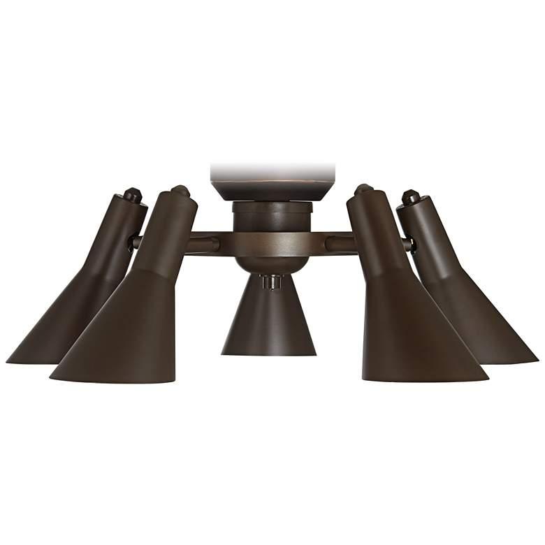 LED Adjustable 5 Light Bronze Ceiling Fan Light Kit