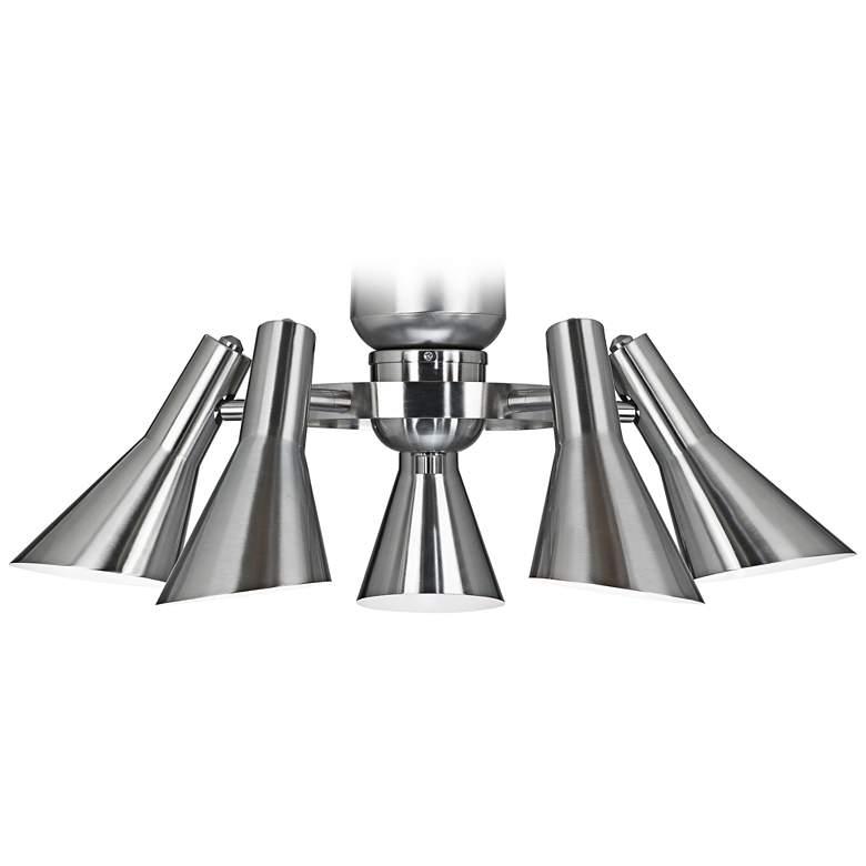 Retro Brushed Nickel 5-Light LED Ceiling Fan Light Kit