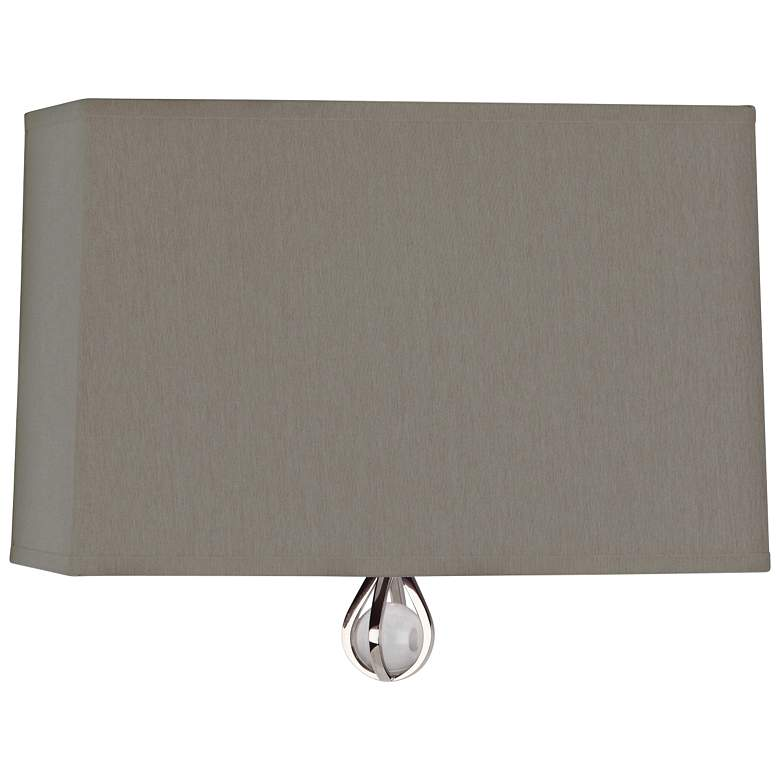 """Curtis 9"""" High Carter Gray with Mayo Teal Lining Wall Sconce"""