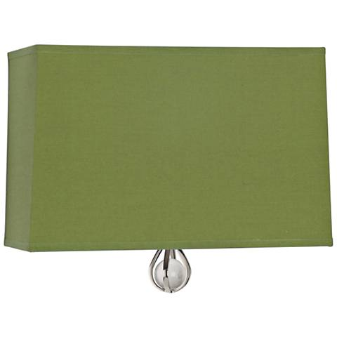"Curtis 9"" High Parrot Green Wall Sconce"