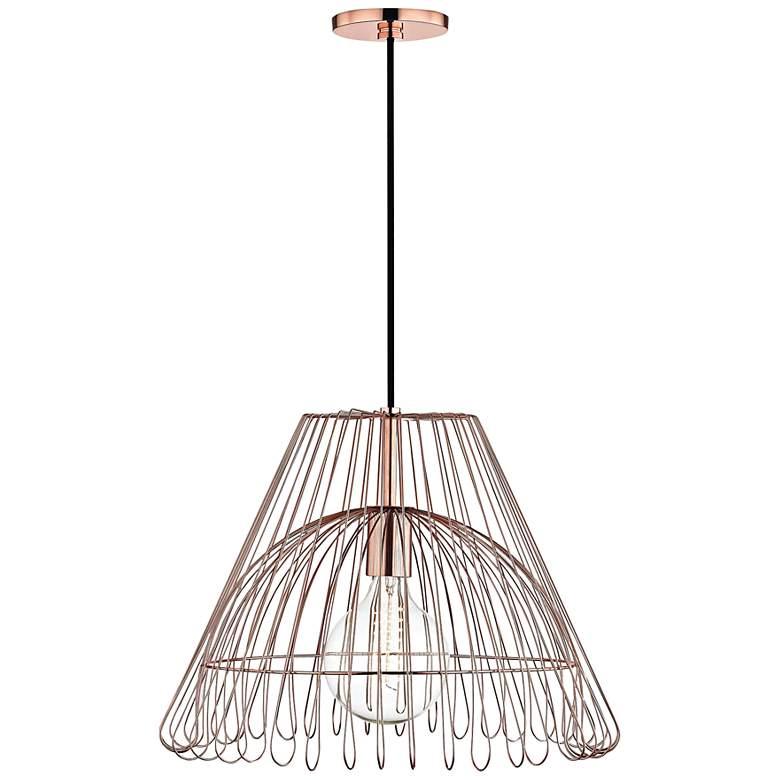 "Mitzi Katie 18"" Wide Polished Copper Pendant Light"