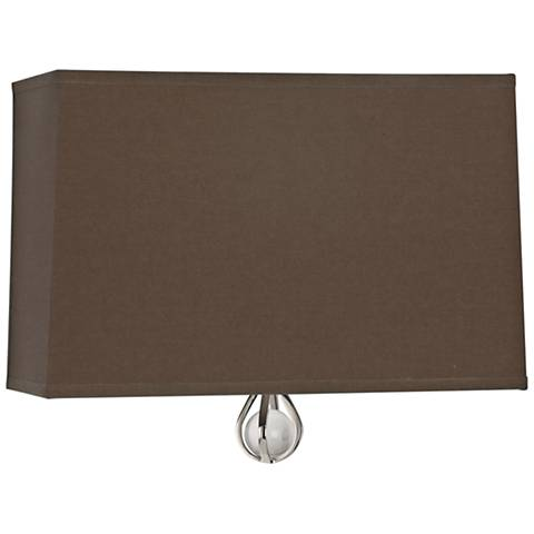 "Curtis 9""H Revolutionary Storm w/ Parrot Green Lining Sconce"