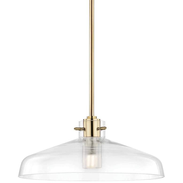 "Mitzi Nemo 12"" Wide Aged Brass LED Mini Pendant"