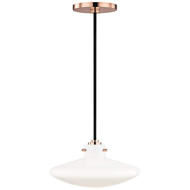 "Mitzi Nemo 9 1/2"" Wide Polished Copper LED Mini Pendant"