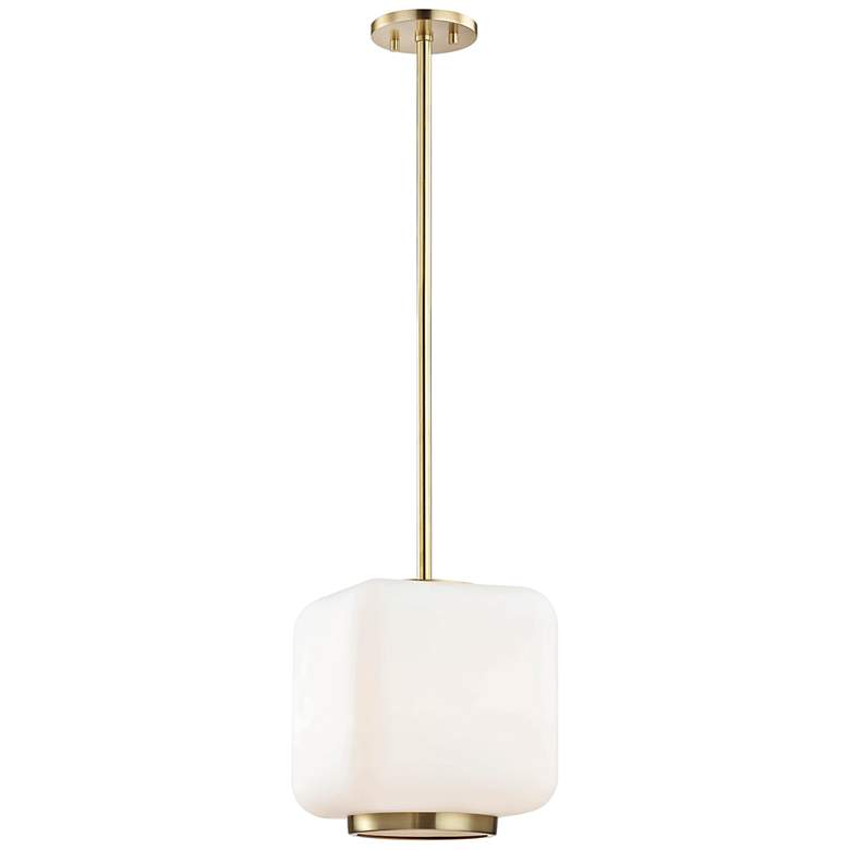 "Mitzi Jenny 9 1/2"" Wide Aged Brass Mini Pendant"