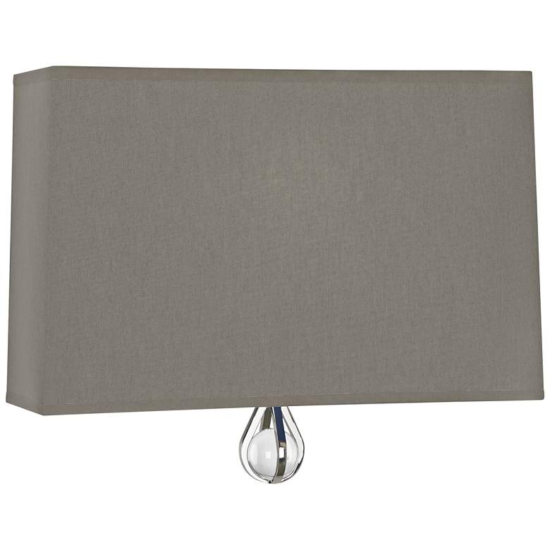 """Curtis 9"""" High Carter Gray with Ink Blue Lining Wall Sconce"""