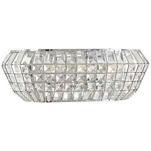 "Braiden 18"" Wide Chrome and Crystal Bath Light"