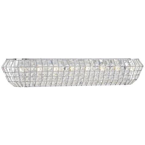 "Braiden 33"" Wide Chrome and Crystal Bath Light"