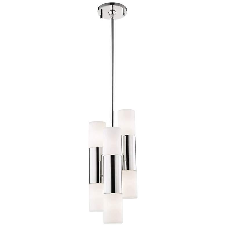 "Mitzi Lola 7 1/2""W Polished Nickel 6-Light LED Mini Pendant"