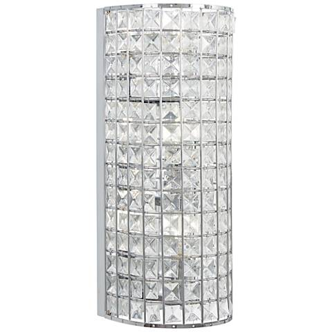 "Palermo 16"" High Chrome and Crystal Wall Sconce"