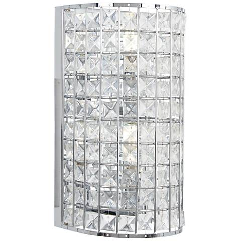 """Palermo 12"""" High Chrome and Crystal Wall Sconce"""