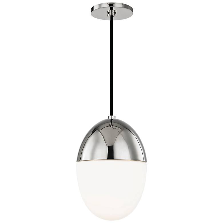 "Mitzi Orion 10"" Wide Polished Nickel Mini Pendant"