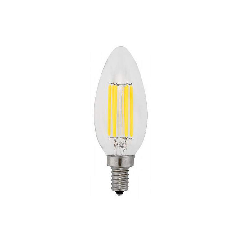 60W Equivalent Clear 6W LED Dimmable Filament Candelabra