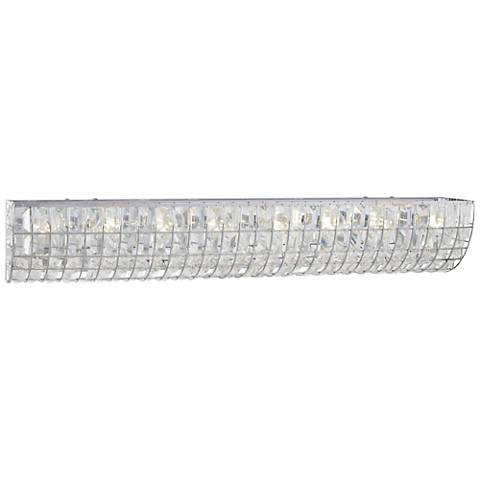 "Palermo 32"" Wide Chrome and Crystal Bath Light"