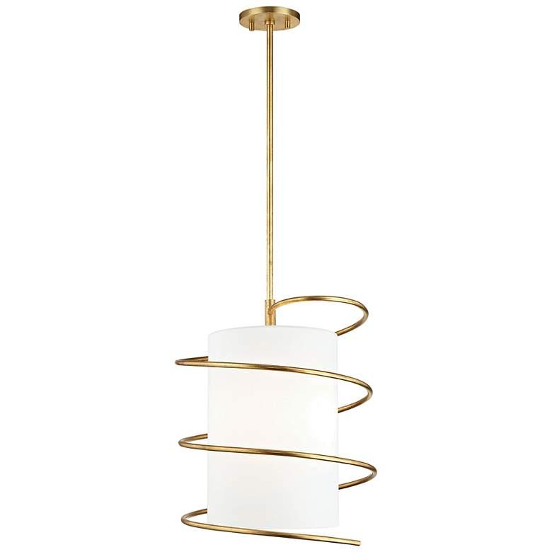 "Mitzi Carly 14 3/4"" Wide Gold Leaf Pendant Light"