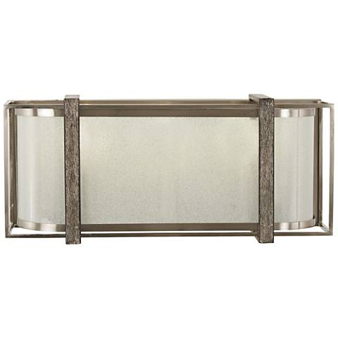 "Tyson's Gate 16""W Brushed Nickel with Shale Wood Bath Light"