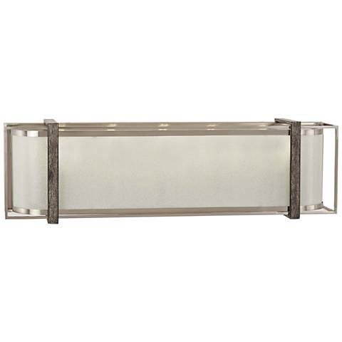 "Tyson's Gate 24""W Brushed Nickel with Shale Wood Bath Light"